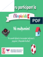 Diploma de Participant