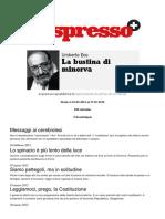 Umberto Eco La Bustina Di Minerva Espresso.repubblica.it Desde El 16-02-2012 Al 27-01-2016