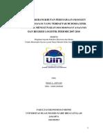 Prediksi Kebangkrutan Perusahaan Property and Real Estate Yang Terdaftar Di Bursa Efek Indonesia Menggunakan Discriminant Analysis Dan Regresi Logistik Periode 2007