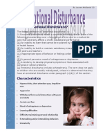 emotional disturbance factsheet