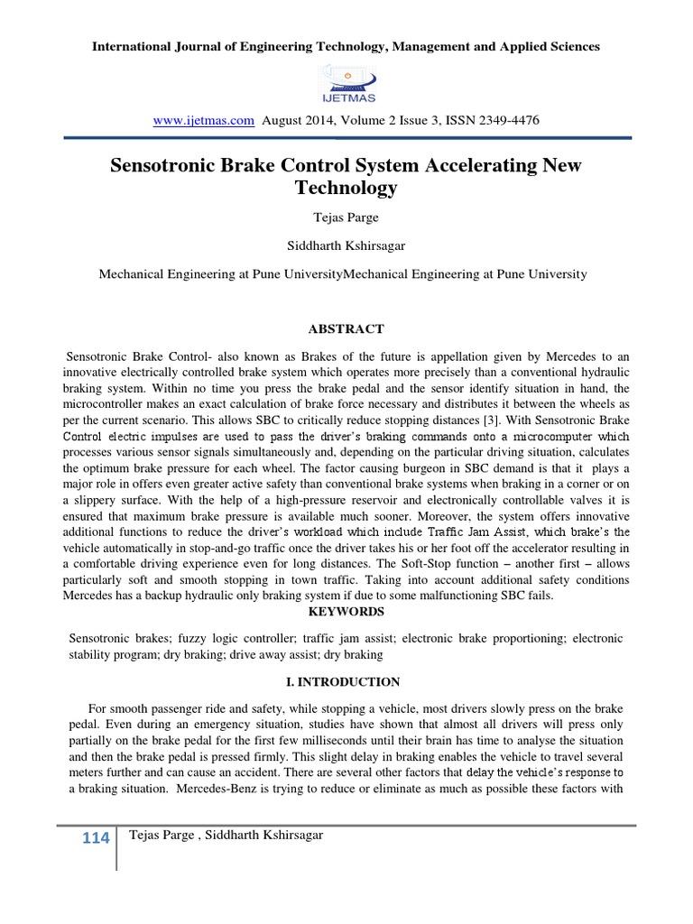 Sensotronic Brake Control Pdf
