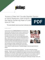 'Humans of New York' Founder Brandon Stanton