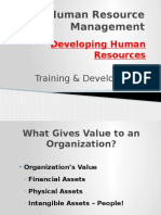 HRM Lecture (Training & Development)