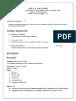Arsalan Hameed - CV.doc
