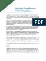 Resumen políticas educativas argentinas