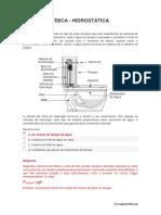 Unidade 01 - Hidrostática - Questões Fechadas