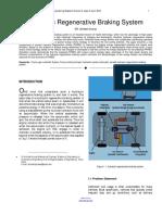 Hydraulic Regenerative Braking System