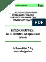 EPO1 13 Retificadores Com Regulador Linear de Tens o