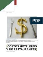 Costos Hoteleros y de Restaurantes