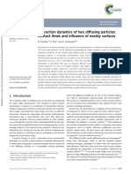 Interaction Dynamics of Twp Diffusing Particles