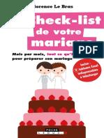 La Check-list de Votre Mariage (1)
