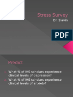 Irvington High Stress Survey