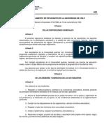 Reglamento de Estudiantes de La Universidad de Chile Version PDF 173 Kb