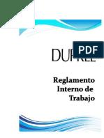 Reglamento Interno de Trabajo DUPREE 2015