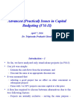 01_Adv Issues in Cap Budgeting