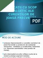 Aplicaţii Cu Scop Analgetic Ale Curenţilor de Joasă