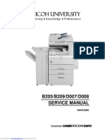 Ricoh B205 Service Manual