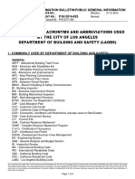 List of Common Acronyms and Abbreviations Used by the City of Los Angeles Department of Building and Safety (Ladbs) Ib p Gi2014 023
