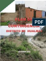 Plan de Contingencia Del Distrito de Hualmay 2015 - 2016