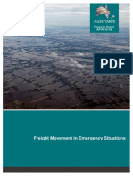 Freight Movement in Emergency Situations