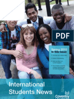 International Students Newsletter Spring 2010 - Coventry University, UK