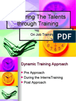 Summer Training or On Job Training