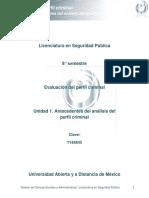Unidad 1. Antecedentes Del Analisis Del Perfil Criminal