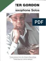 Dexter Gordon_Jazz Saxophone Solos