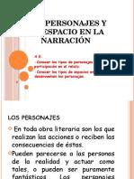 Los personajes y el espacio en la narración.pptx