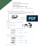 Avaliação Diagnóstica 2016 Português