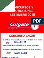 Promociones y Concursos FFVV Setiembre - 2015 Minorista