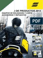 ESAB 2013 Catalogo Geral Equipamentos
