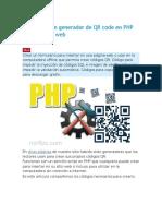 Códigos de Un Generador de QR Code en PHP Para Un Sitio Web