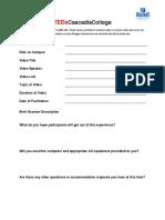 tedxcascadia program form