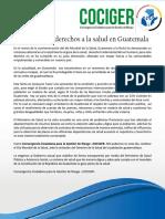 Retrocesos en derechos a la salud en Guatemala