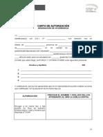 Carta de Autorizacion Modelo