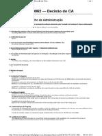 Decisão CA - Ensino de Matemática No 3º Ciclo Do Ensino Básico e No Secundário (Mestrado)