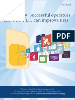 4G Strategy - Successful Operators Show How LTE Can Improve KPIs Extract - November 2013