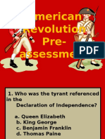 american revolution pre-assessment