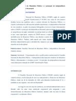 4. O Conselho Nacional Do Ministério Público e o Princípio Da Independência Funcional Dos Membros Do Parquet - Artigos - Conteúdo