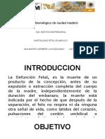 Series de Tiempo, Pronostico y Suavizacion Indice de Mortalidad Fetal