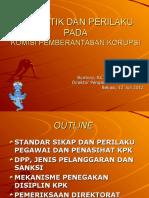 KPK-Kode Etik Pegawai Dan Penasihat Di KPK