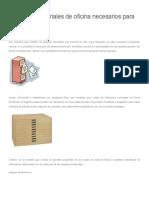 Equipos y materiales de oficina necesarios para archivar.docx