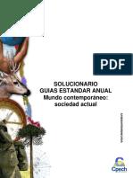 Solucionario Guía Práctica Mundo Contemporáneo. Sociedad Actual 2013