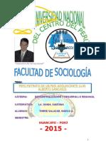 Trabajos de Descentralizacion y Desarrollo Regional