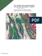 Interpretación de un sector geologico y posible aplicaciones de metodos geofisicos en el area a partir de una carta geologia