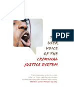 The User Voice of the Criminal Justice System
