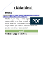 How to Make Metal Rust