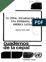 La Cepal Encarnacion de Una Esperanza en America Latina