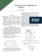 Rectificadores monofásicos no controlados con carga RL